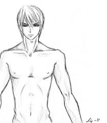 sketch male by licmilicious on deviantart