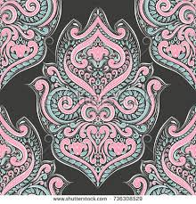 wallpaper luxury pink pink turquoise vector seamless pattern wallpaper stock vector 2018