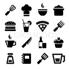 kitchen icon kitchen icons stock vector colourbox