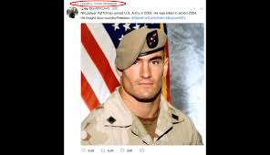 Truth Meme - trump retweets meme with fallen soldier who opposed conservative