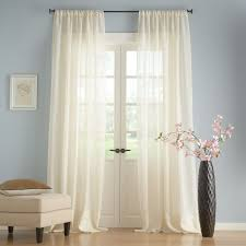 How To Hang Pottery Barn Curtains Linen Sheer Drape Pottery Barn