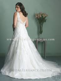 plus size lace wedding dress with drop waist and full skirt