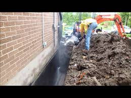 how to exterior basement waterproofing and weeping tile flushing