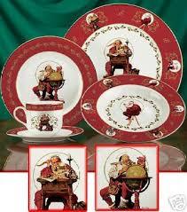 christmas dinnerware franklin mint norman rockwell christmas dinnerware set