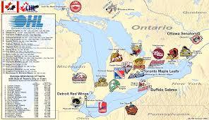 Michigan On Map Canada Billsportsmaps Com