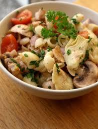 cuisiner coeur d artichaut recette de salade de pâtes au coeur d artichauts jambon et