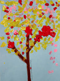 simple art projects for kids cotton swab tree craft where