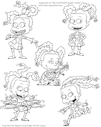 Susie Rugrats Colouring Pages Coloring