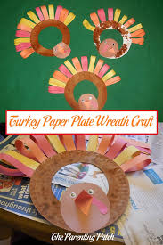 turkey paper plate wreath craft wreaths crafts paper plates and