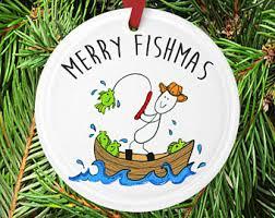 fishing ornament etsy