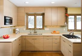 Oak Cabinet Kitchen Makeover - prefab cabinets kitchen modern with cork floor modern oak cabinets