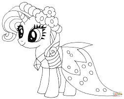 princess rarity coloring free printable coloring pages
