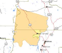 map of oregon springs warm springs indian reservation