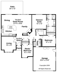 House Plans With Vaulted Great Room by Traditional Style House Plan 3 Beds 2 00 Baths 1660 Sq Ft Plan