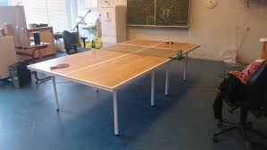 collapsible table tennis table making a tabletennis table youtube