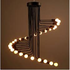 Decorative Pendant Light Fixtures Loft Retro Creative Spiral E14 Edison Light Bulb Decorative