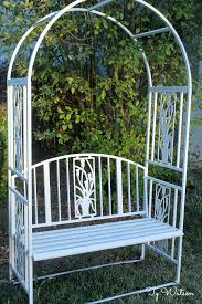 Repainting Metal Patio Furniture - painting tips u2013 how to prep and paint an old iron bench with chalk