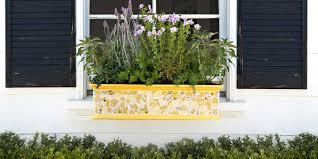 window flower boxes diy in swish purple flowers window planter