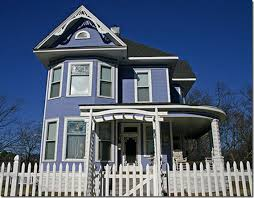 blue victorian house design color schemes of exterior house