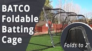 batco foldable batting cage for baseball and softball youtube