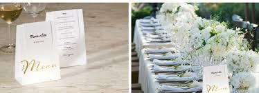 id e menu mariage idée menu mariage pour une table de mariage stylée à souhait