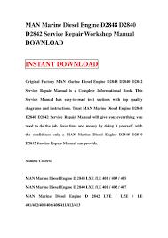 download man marine diesel engine d2848 d2840 d2842 service repair wo u2026