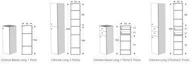meuble bas cuisine largeur 35 cm largeur plan de travail cuisine 7 colonne et colonne basse