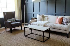 steel box frame coffee table living room simple black woden