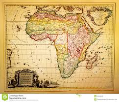 The Map Of Africa Ancient African Ancient Vintage Map Depicting Africa In The 19th