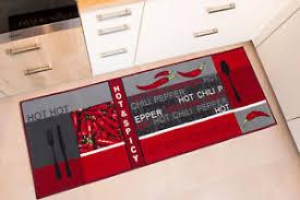 läufer küche küchenläufer teppichläufer läufer küche rot modern waschbar
