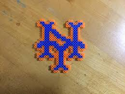 Halloween Perler Bead Templates by Mets Perler Beads Creation For All The Mets Fans Created By A