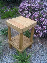 Make Wood Outdoor Table by Diy Plans To Make Wooden Plant Stand By Wingstoshop On Etsy