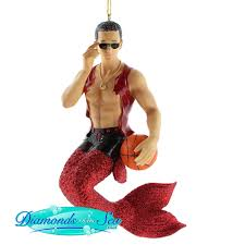 december diamonds merman ornaments for your tree