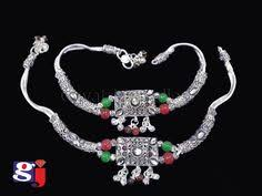 antique design payal traditional silver ornaments silver