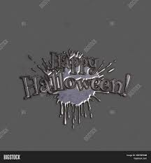 happy halloween lettering greeting card volumetric letters with a