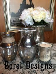 Mercury Glass Vases Diy Diy Transform Plain Glass Containers Into Embellished