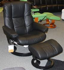 stressless mayfair medium paloma black leather recliner chair and