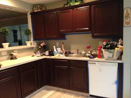 Finishing Kitchen Cabinets Applying Easy Gel Stain Kitchen Cabinets All Home Decorations