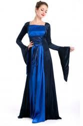 blue womens medieval queen dress renaissance halloween costume