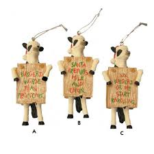 fil a cow saying ornament ck2101