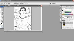 sketch effect in photoshop tutorial youtube
