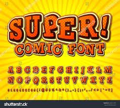 creative comic font alphabet style comics stock vector 296611394
