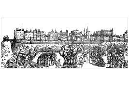 Gravure chateau windsor  Rois et Reines  Coloriages difficiles