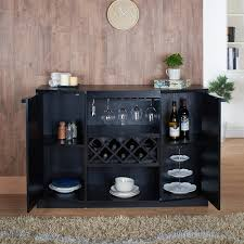 amazon com liquor storage cabinet home bar wine modern rack