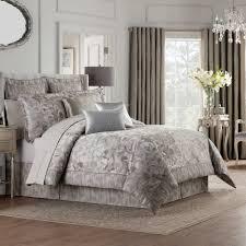bedding valeron fiesol comforter set soft silver bedspreads king