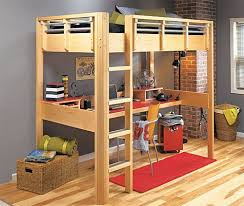 Wood Loft Bed With Desk Plans by 26 Best High Sleeper Beds With Big Desk Images On Pinterest High