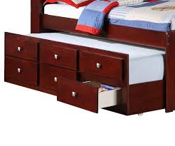Captain Bed With Desk Manhattan Twin Size Bookcase Captains Trundle Bed Cappuccino