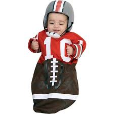 newborn bunting halloween costumes 0 3 months amazon com newborn football bunting newborn ages 0 9 months