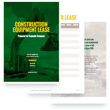 construction equipment proposal template free sample