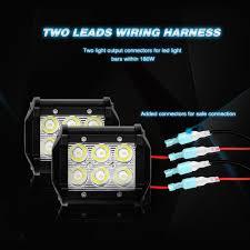 Led Light Bar Wiring Harness by Amazon Com Nilight Led Light Bar Wiring Harness Kit 12v On Off